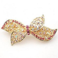 F001 accessories rhinestone bow hairpin exquisite hair pin hair accessory