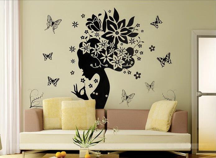 Фото трафаретов цветов для стен