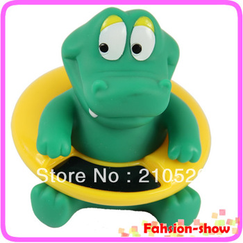 34 ~44 centigrade Cute Crocodile Baby Infant Bath Tub Thermometer Water Temperature Tester Toy Free Shipping
