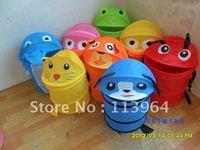 free shipping!Cartoon animal style storage bucket folding cylinder laundry basket toy storage bucket