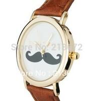 Inside Upset Watchband Black Mustache Bow Watch Fashion&Casual Wholesale&Retail Euramerican-Round Wristwatches Decoration