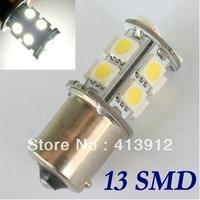Free EMS/DHL Shipping 100pcs Car 1156 BA15S Tail Brake 13 LED 5050 SMD DC 12v Turn Signal White Light Bulb Lamp