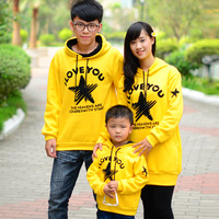 Thickening sweatshirt family fashion 2012 autumn family set clothes for mother and daughter clothes for mother and son winter