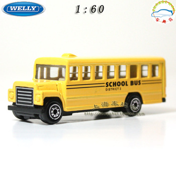 Bus school bus alloy model the wyly