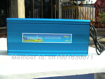 12V 24v 48vdc to 220V 1000W Pure Sine Wave Power Inverter With 12V10A Buildin Charger auto transfer