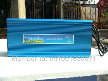 12V 24v 48vdc to 220V 1000W Pure Sine Wave Power Inverter With 12V10A Buildin Charger auto transfer