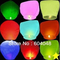 Free Shipping 30 pcs pure color Wishing Lamp Sky Lanterns birthday wedding party Sky Lamp flying paper Wish gift Flying Lantern(China (Mainland))