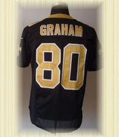 Arrived New New Orleans Football Jerseys 80 Jimmy Graham Black white Elite Jerseys
