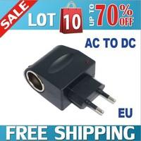 Free shipping 12V  Car Charger Cigar Cigarette Lighter 110V-220V AC to 12V DC EU Car Power Adapter Converter To Wall