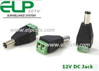 CCTV Video Camera Connector DC mail 5.5 x 2.1mm CCTV DC Power Jack,12V DC power connector