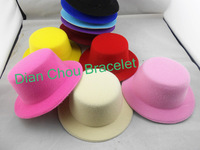 Freeshipping wholesale wedding party mini top hat accessories whthout clip for DIY dia13cm