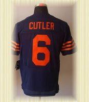 Arrived New Chicago Football Jerseys 6 Jay Cutler Blue Orange White Elite Jerseys