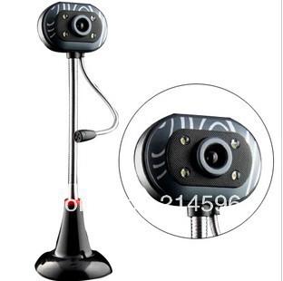 New Hd night vision video head usb webcam laptop web camera free shipping