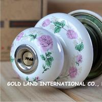 Free shipping 2pcs/set ceramic bedroom door lock