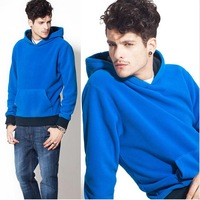 Fre shipping, Winter thickening pullover with a hood ,casual sweatshirt male