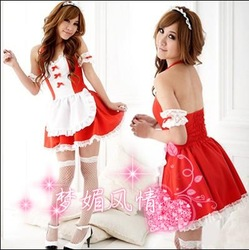 free shipping Gift Cosplay Sexy underwear set the temptation maid uniform ktv princess clothes work wear Size fits all plus size(China (Mainland))