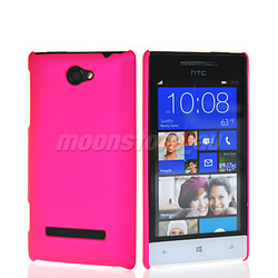 HARD RUBBERIZED RUBBER COATING CASE COVER FOR HTC WINDOWS PHONE 8S FREE SHIPPING(China (Mainland))