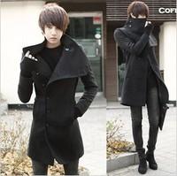 Free Shipping New trend of men's winter coat in the Korean version of a long paragraph men's windbreaker men slim Lapel dress