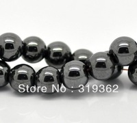 Wholesale 8mm Black Hematite Round Beads 100pcs/2strand Gemstone Loose Beads Fit Shamballa Bracelet Necklace