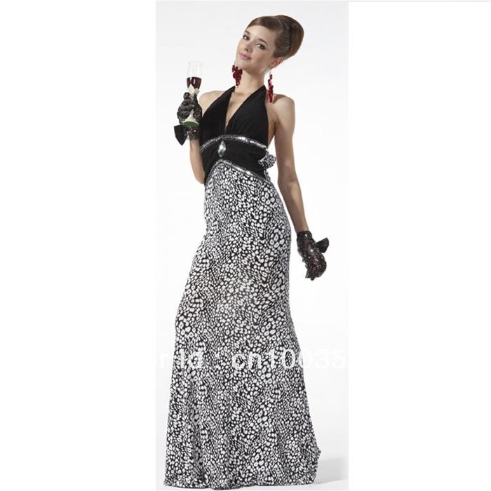FREE Shipping Leopard Print Mermaid Animal Sexy Houndstooth Wedding Prom Ball Maxi Bridesmaid