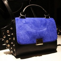 2013 Winter faux suede leather  handbag with rivet Fashion brand designer handbag on sale! WB007