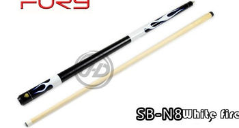 Free shipping!!Fury Cue Black 8 Billiard Pool Stick SB-N8+2 Chalk+Bag for free White Fire!! Center joint elegent
