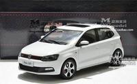 Dealer 1:18 Shanghai Volkswagen Polo GTI White Car Model - New year gift
