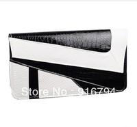 Free shipping!Elegant female bags black and white color block envelope bag fashion vintage day clutch messenger bag BG062