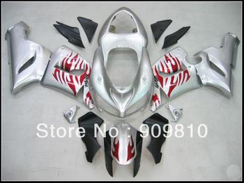zx6r fairing 2005 2006 abs fairing kits motocycle fairing  black zx6 r 636 ninja motorcycle bodywork silver