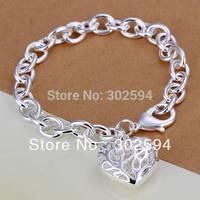 Christmas sale 925 Sterling silver bracelets lovely novel heart women lady bracelet high quality fashion jewelry H269