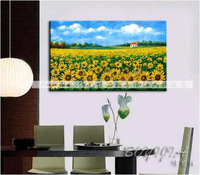 Sunflower pure landscape oil painting picture frame decorative painting