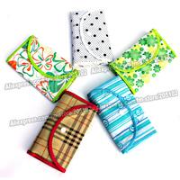 10PCS/lot Patterned Nonwoven fabrics folding shopping bag,many color patterns mixed sales Eco-friendly foldable fashion handbag