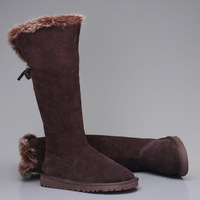 EMS Shipping Australia Sheepskin Women's Winter Snow Boots 5369 High Cuts Style Boots Top Quality