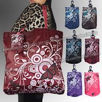 15pcs/lot , Big square pocket folding fabric shopping bag,many colors mixed sales Eco-friendly durable foldable handle bag