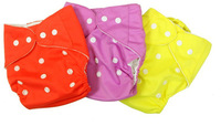 10 Pcs One-size Baby Adjustable Ikawa washable cloth diaper nappy 7COLORS without insert