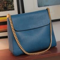 2012 autumn blue vintage women's handbag fashion chain messenger bag bags picture package