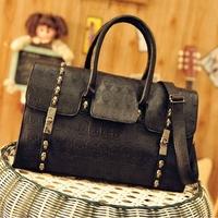 2012 women's handbag fashion street style skull Emboss handbag messenger bag