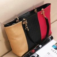 Bags 2012 summer women's handbag candy color chain bag knitted bag casual messenger bag