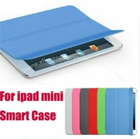 Hot Sales!!Original Magnetic Smart Cover Leather Case for ipad mini,Muti-color and Intelligent Sleep.Retail box+Free shipping