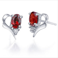 2012 earrings fashion jewelry silver 925 with natural garnet SE0031G