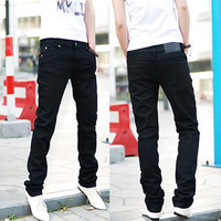 Sale new year gift wholesale retail and dropship men self jeans pencil pants feet pants men's skinny jeans pants