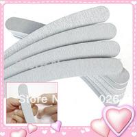 Free Shipping 50pcs/lot  100/180 Acrylic UV Gel Curved Mail Nail File Buffer Buffing Manicure Set