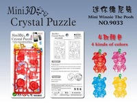 3d stereo mini WINNIE crystal puzzle cell phone accessories lanyards small WINNIE mini puzzle 4