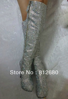 2013 New arrival Luxury crystal boots fully rhinestone high heel platform boots sexy wedding party boots N-2012580