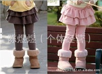 Hot sell Free Shipping!2013 autumn paragraph Kids Korean children girls Leggings wild princess cake culottes