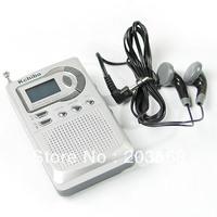 D19Free Shipping AM FM Pocket Radio 2 Band Receiver LCD Alarm Clock New