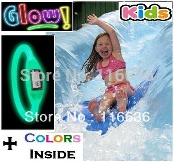 Silicone Ion Sport Children watches KIDS Boys Girls GLOW in the Dark  Silicon Rubber Ladies Fashion watch 3ATM waterproof