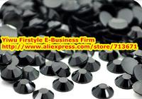 6mm ss30 Black Jet Resin rhinestones for Nail/Phone/Decoration 10,000pcs/bag wholesale