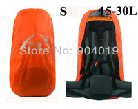 Portable Backpack Rain Cover waterproof Bag Cover Water Resist Orange S 15-30L