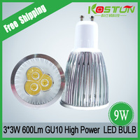 Quality Guaranteed Gu10 3*3w led bulb warm white 9w high power led lamp 4pcs/lot